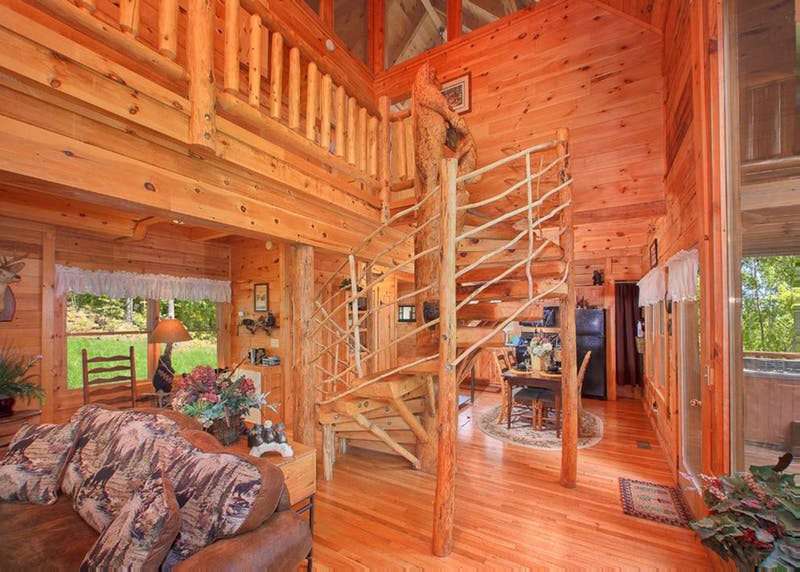 located cabin mountain high cabins smoky smokey bedroom mountains in